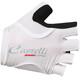 Castelli Rosso Corsa Pave Rękawiczka rowerowa Kobiety biały/czarny